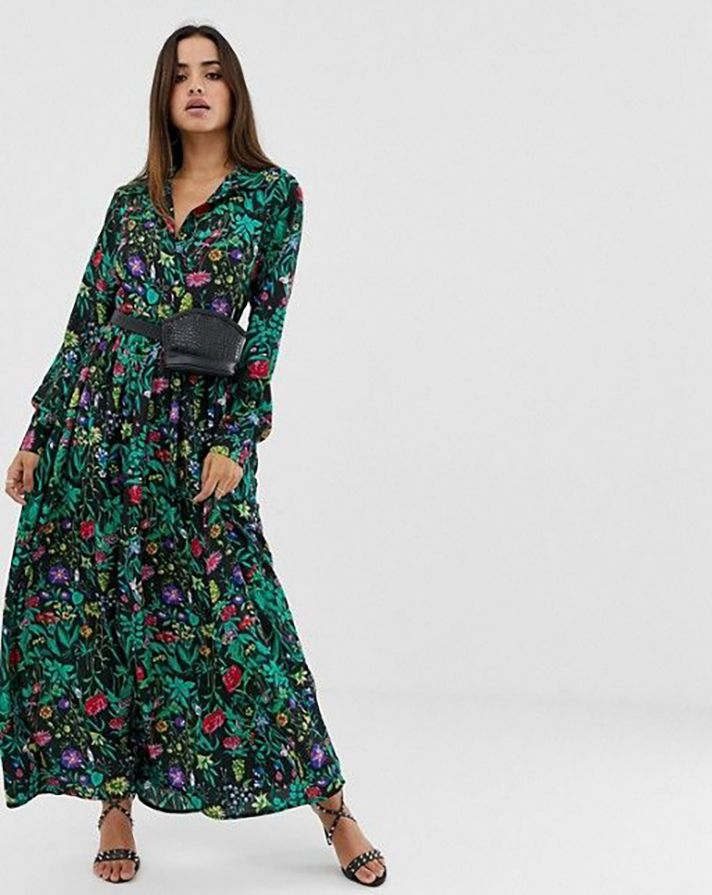 dc7d09315c PrettyLittleThing Button-Down Maxi Shirtdress, $48 at ASOSLong-sleeve maxi  dresses are officially the move this spring