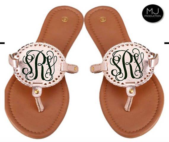 50fd57f40448b Monogram Sandals