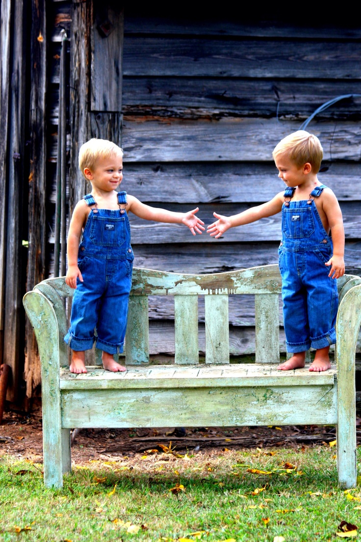 Twins brother two year pictures.