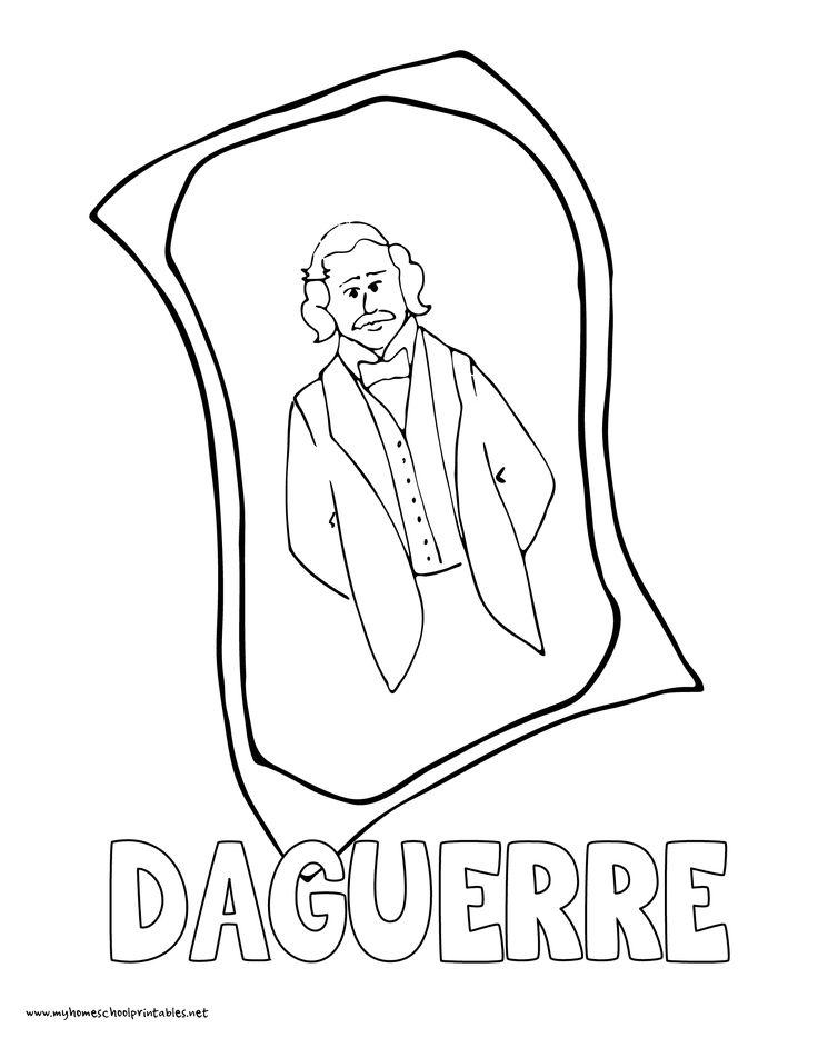 world history coloring pages printables daguerre daguerreotype