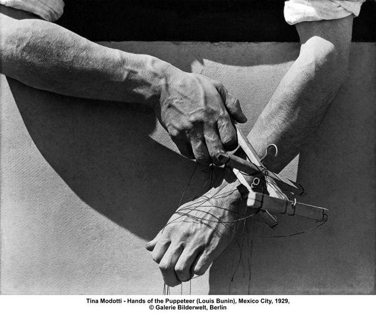 """""""Photographer Tina Modotti, Hands of Marionette Player, 1929 Tina Modotti, Robert Frank, Edward Weston, Diego Rivera, Louise Bourgeois, Clemente Orozco, Roman, Robert Mapplethorpe, Patti Smith"""