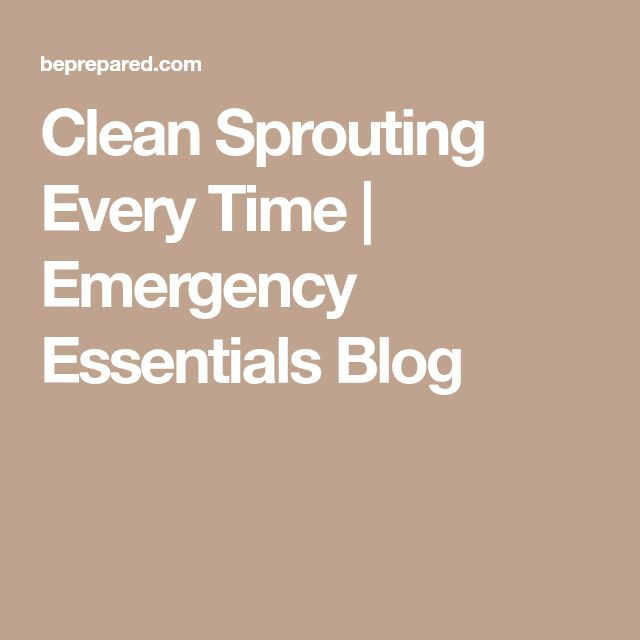 Clean Sprouting Every Time   | Emergency Essentials Blog