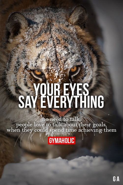 Your Eyes Say Everything More motivation -> http://www.gymaholic.co/ #fit #fitness #fitblr #fitspo #motivation #gym #gymaholic #workouts #nutrition #supplements #muscles #healthy