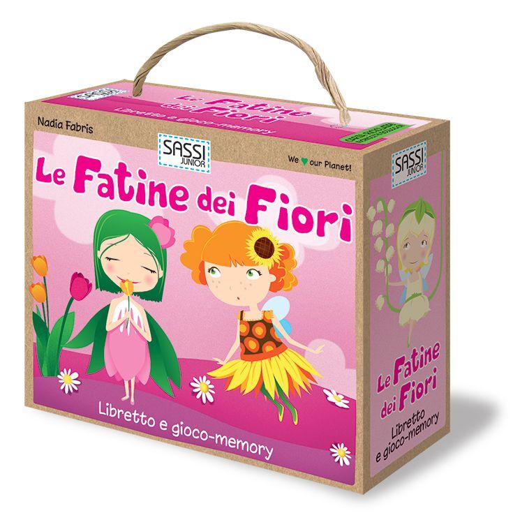 #Sassi Junior: Le Fatine dei Fiori - Gioco-Memory da 20 carte + libretto di 10 pagine. #ecologia #libro #gioco