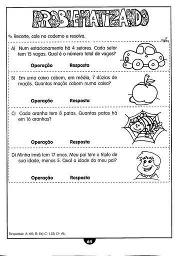 atividades de matemática: de adição, subtração, números decimais, medidas de massa proporção, sistema monetár...