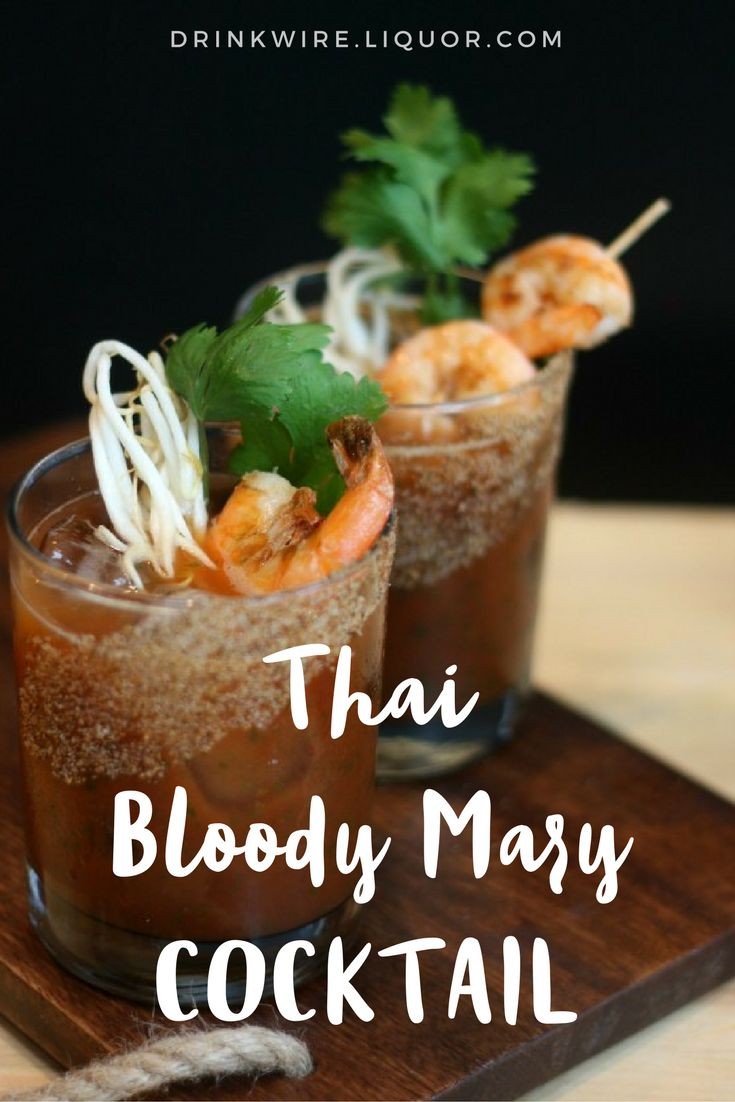 This Thai #BloodyMary has a suprise ingredient that will help cure that #hangover and make you want one... or five more.