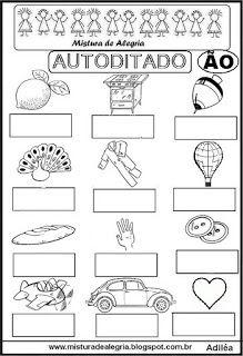 Autoditado para alfabetização com ão