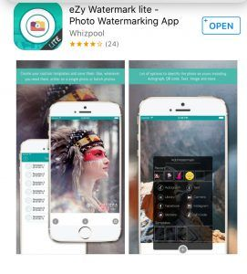 EZY WATERMARK APP TUTORIAL: PROTECT YOUR PHOTOS AND CREATE BRAND RECOGNITION! Placing watermarks on your photos is vital to the security of your artistry AND to creating brand recognition in the marketplace. It's easily accomplished with today's technology.