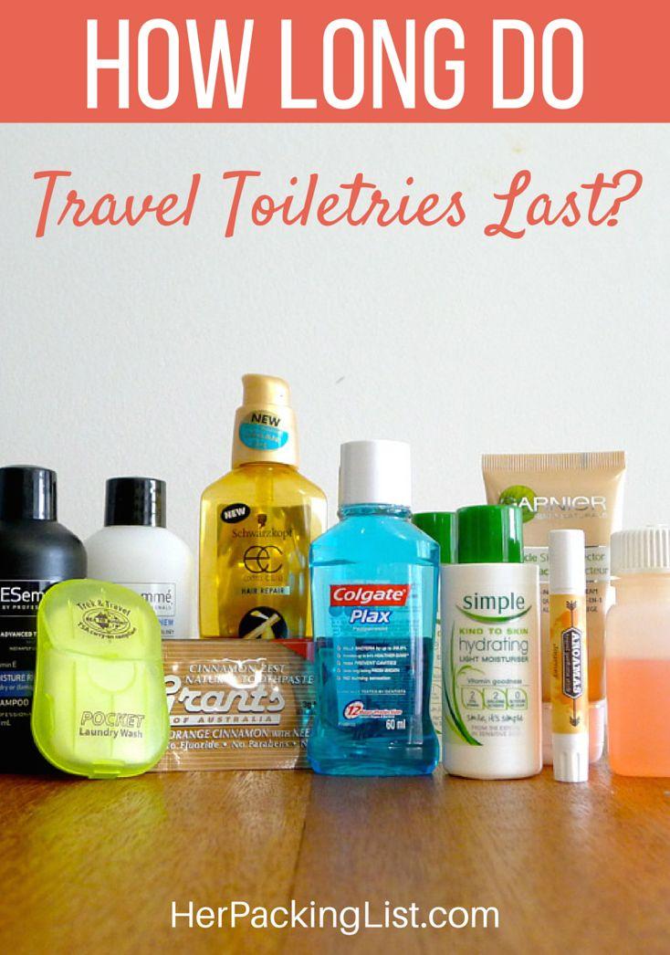 How Long do Travel Toiletries Last pinterest