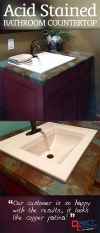 How-to: Acid Staining Concrete Countertops - DirectColors.com