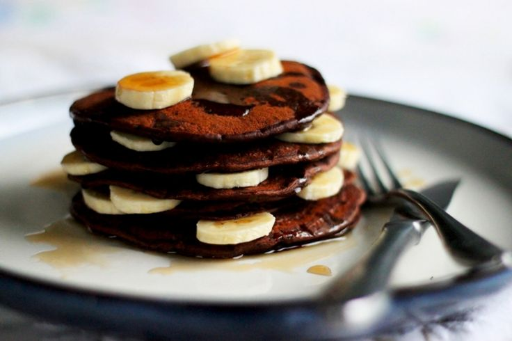YUM. Vegan hot cocoa pancake recipe! http://www.thefirstmess.com/2012/02/05/chocolate-pancakes/