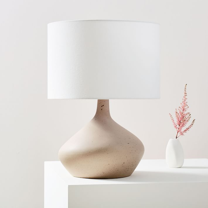 Asymmetry Ceramic Table Lamp Small Speckled Stone Ceramic Table Lamps Ceramic Table Glass Table Lamp