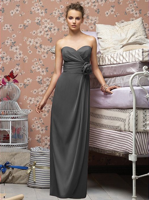 Charcoal Grey Bridesmaid Dresses   Lela Rose Bridesmaids Style LX150 in charcoal gray - Dessy (crinkle ...