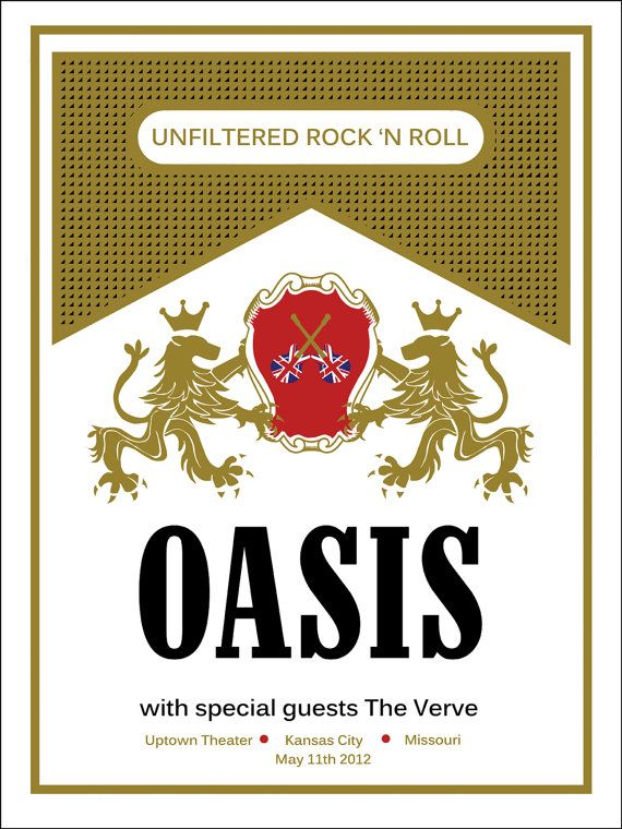 Oasis #band #poster #design