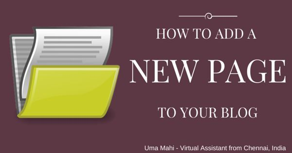 Help For Small Business Owners: How to Add a New Page to Your Blog