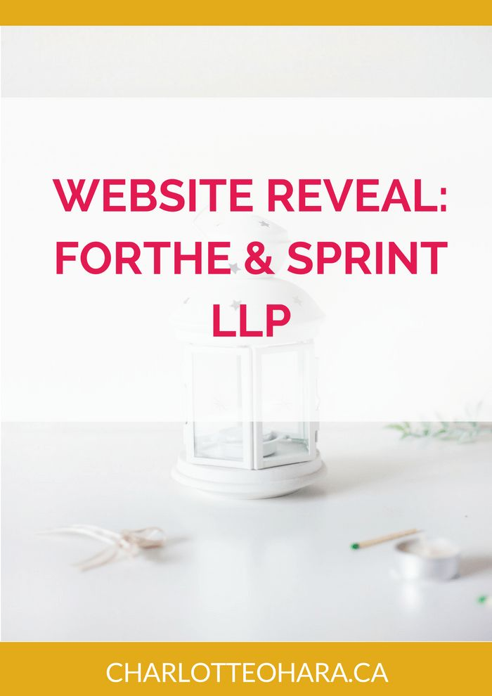 New Website Reveal for Forthe & Sprint LLP.