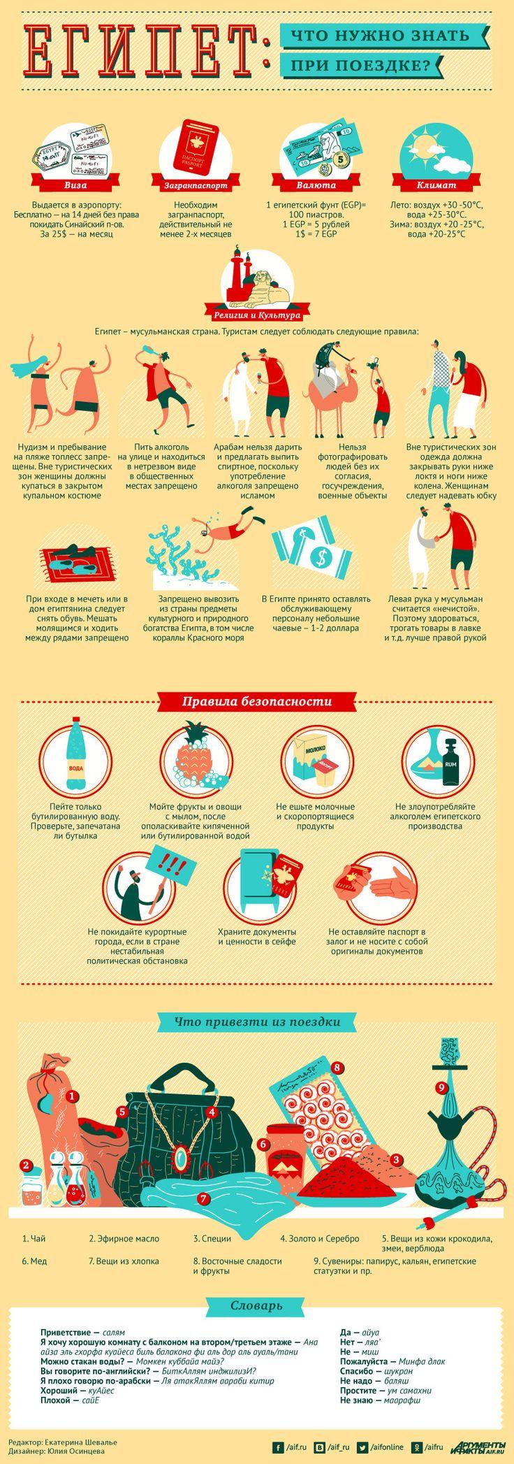 Что нужно знать, отправляясь в Египет? Инфографика | Инфографика | Вопрос-Ответ | Аргументы и Факты