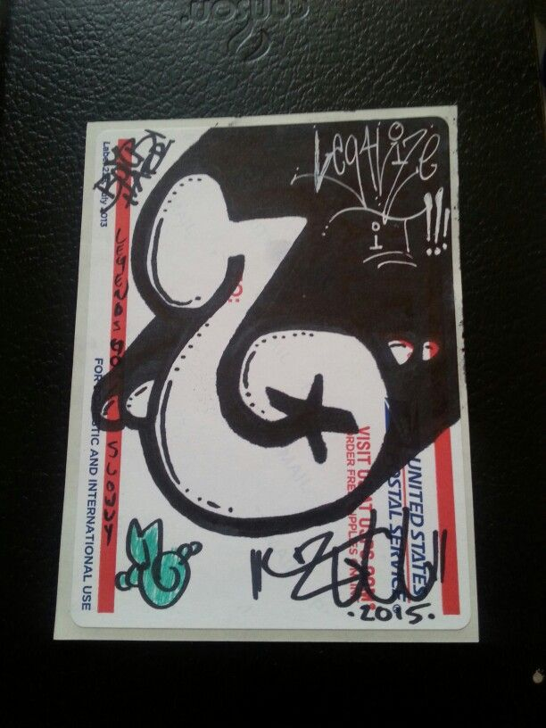 First sticker throw up in a long time artbyz graffiti stickers