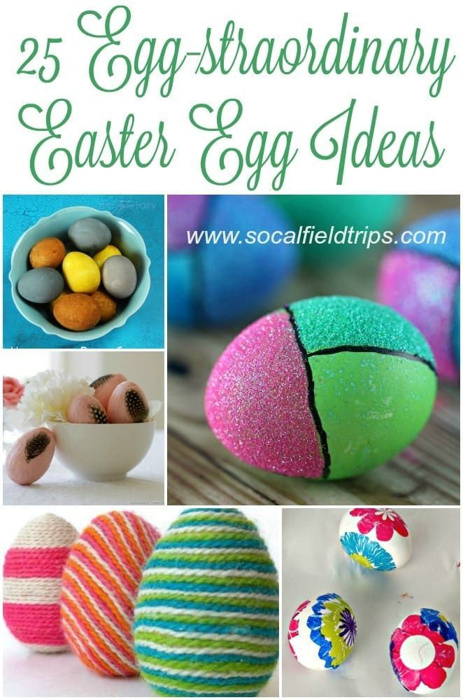 Need some Easter egg dying inspiration?  Check out this list of 25 Egg-cellent Easter Egg Decorating Ideas For Families! #easter #eastereggcraft