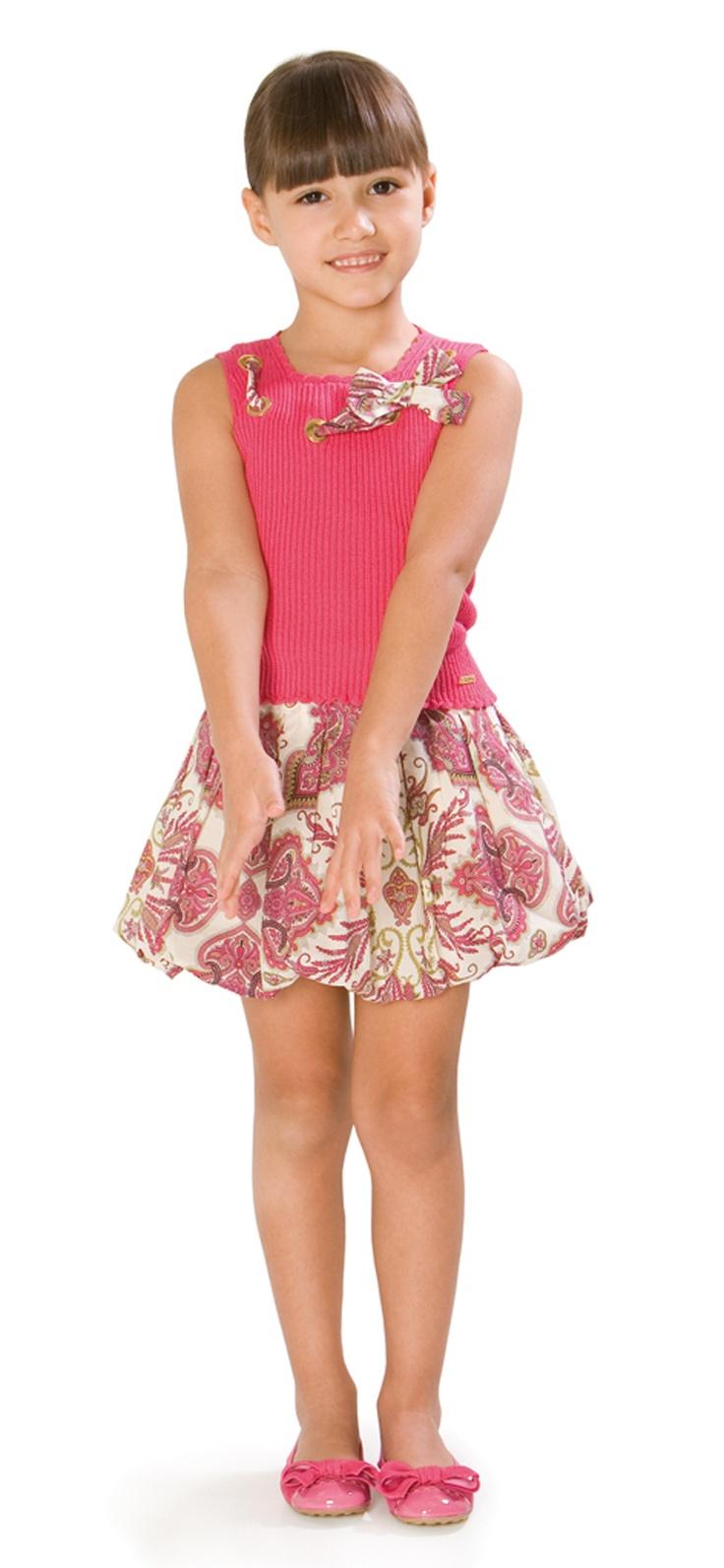 Love this look!    Girl top & skirt -  Pili Carrera - USA - Girl Collections