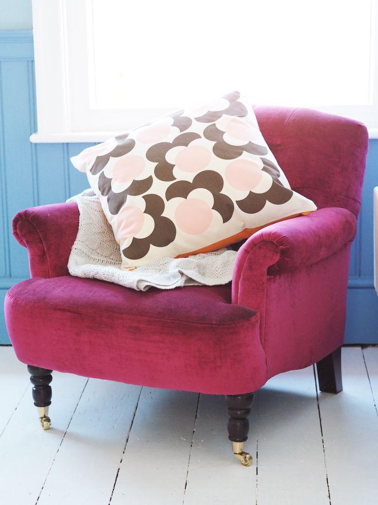 multiyork chair with orla kiely cushion