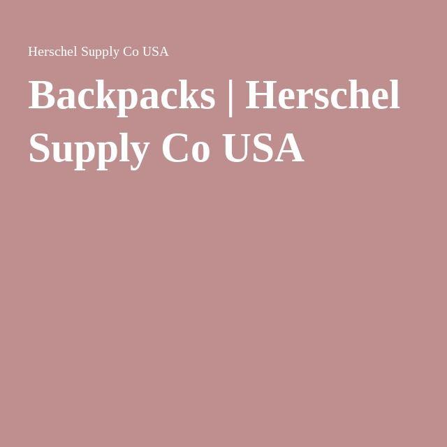Backpacks | Herschel Supply Co USA