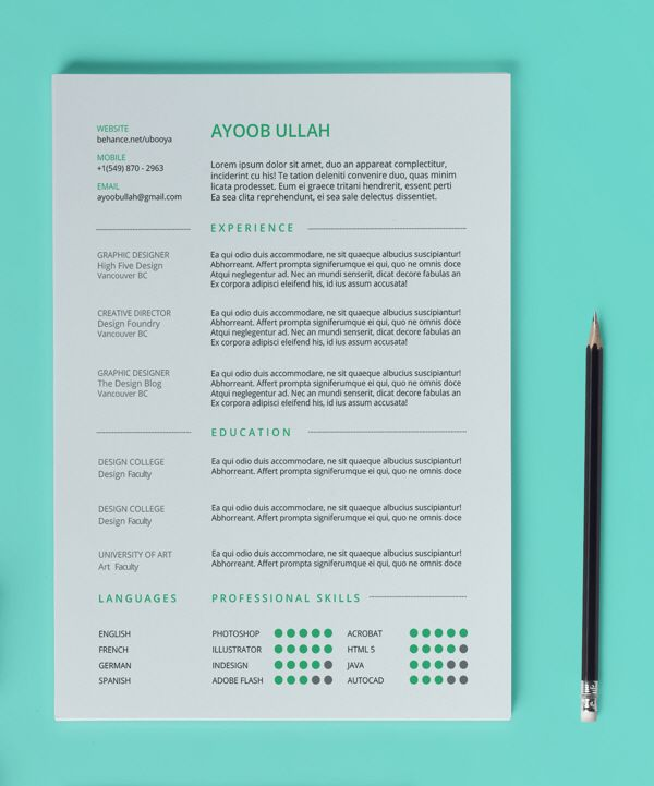 13 best images about free resume  cv templates on pinterest