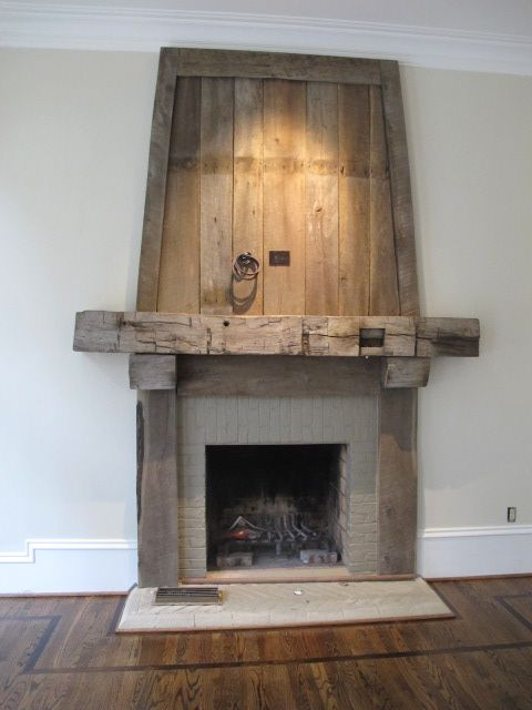 Best 25 rustic fireplaces ideas on pinterest rustic for Wood fireplace surround designs