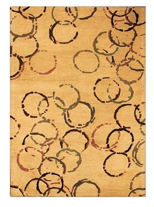 Mili Designs NYC Rain Patterned Rug, Beige/Multi, 5' x 8'