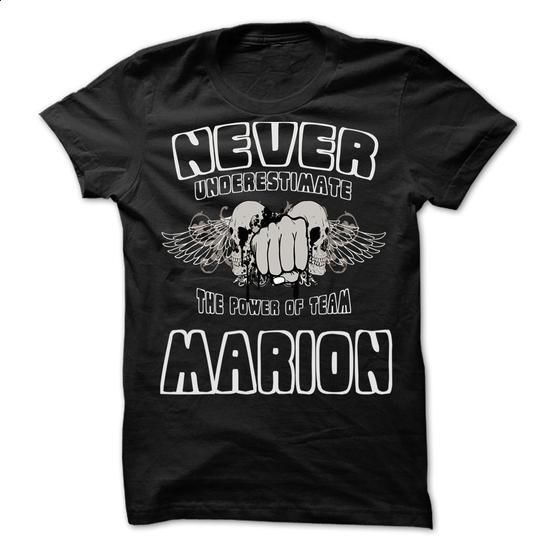 Never Underestimate The Power Of Team MARION   99 Cool Team Shirt !   #t