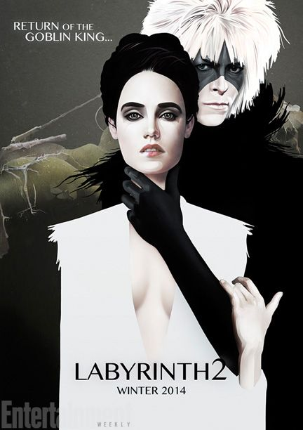 'the Labyrinth 2', art posters for sequels that were never made, David Bowie & Jennifer Connelly, illustration.
