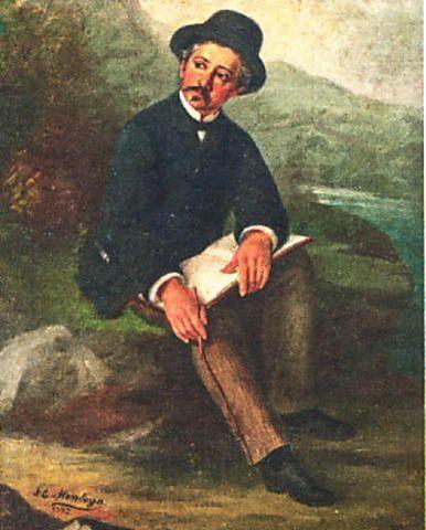 Retrato del viajero (1887) - Jose Eugenio Montoya (1858 - ?)