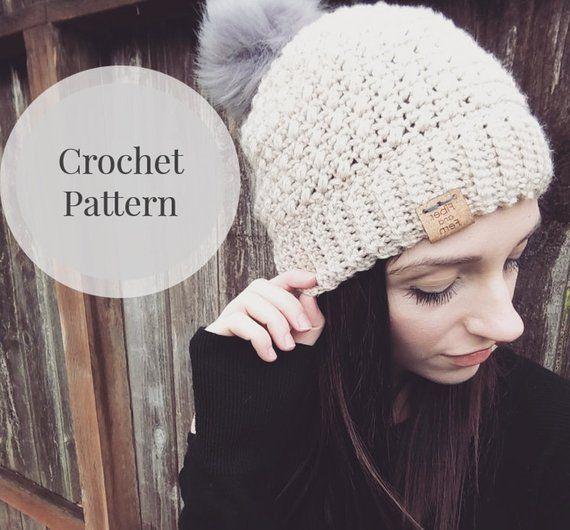 412b90816 Easy Hat Crochet Pattern/ Beginner Beanie Pattern/ Womens and ...