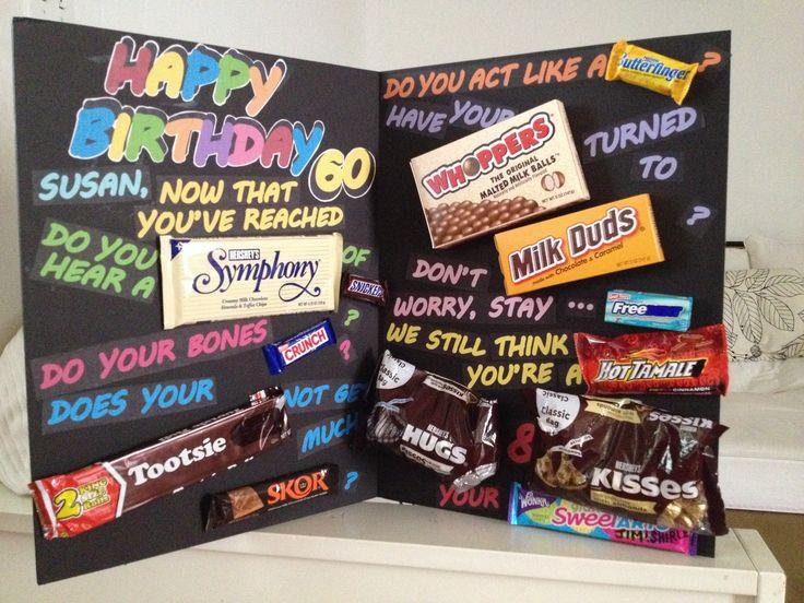 60th Birthday Candy Card