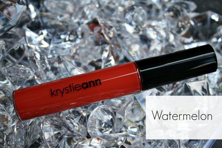 Krystie Ann Cosmetics: Lip Gloss Shade: Watermelon  Price: $15  Makeup, lip gloss, cosmetics, bright lips, bold lips, bright gloss, red gloss, tinted gloss  www.krystieann.com