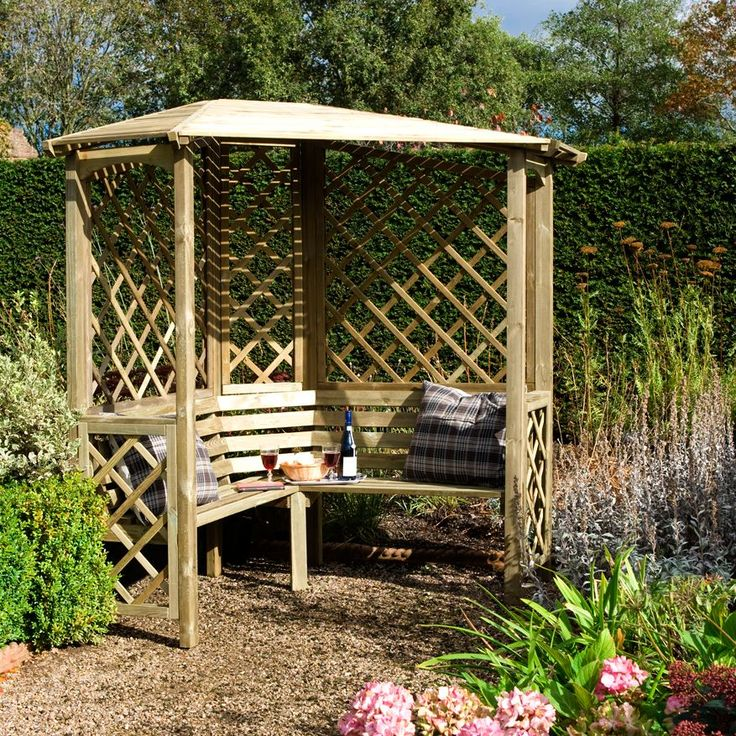 Chiltern Wooden Corner Arbour With Assembly Service