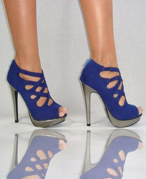 cobalt blue high heels shoes cobalt blue