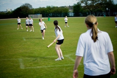 Rounders.....i was horrible at it so the teacher would put me so far away in the field that i'd sit around picking daisies and examining hedgerows for blackberries....one time i even got forgotten when the game ended and the class left without me.....bastards!