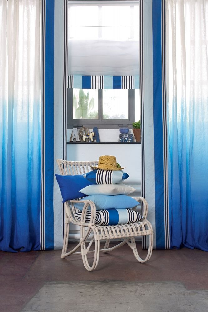Ombre curtains and cushions made to measure, Pfister Vorhang Service