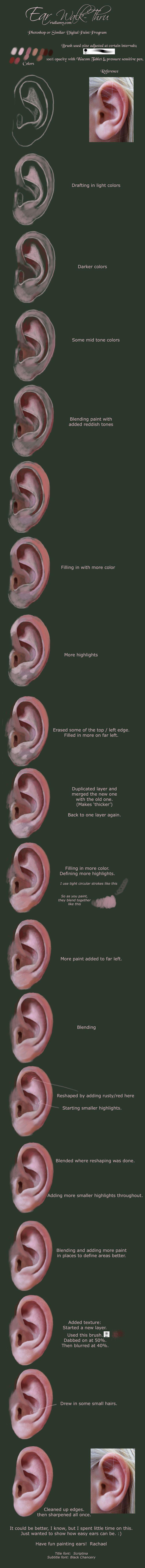 Painting Ear Walk-thru by Rach-Resources