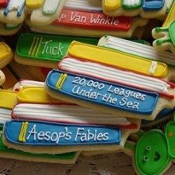 Book stack cookies.