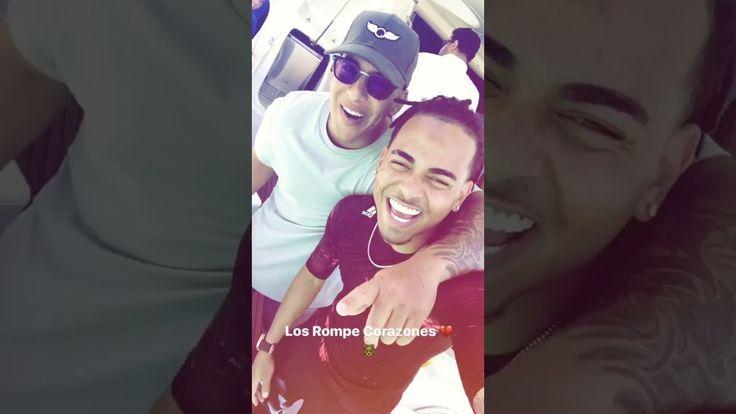 Ozuna Instagram Stories with Daddy Yankee