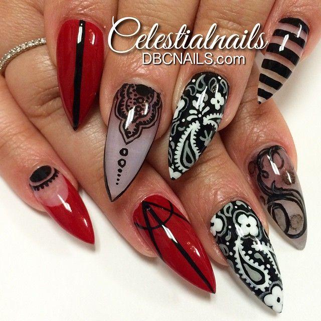 Urban Stiletto Nail Art: 729 Best Stiletto Nails