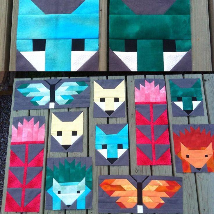 Lisää kettuja... kymmenen blokkia tehty ja vielä muutama lisää:) #elisabethhartman #fancyforest #fox #ketut#tilkkutyöt #käsityöblogit #tiistai#quilt by tilkkureppu