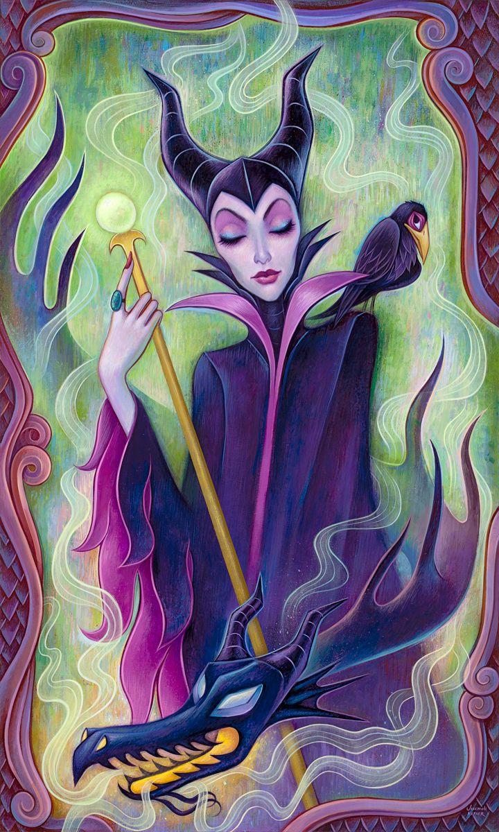 Mistress of Evil, Acrylic on Wood, 18 x 30, inches, 2014 Jeremiah Ketner | Fine Art ©Disney