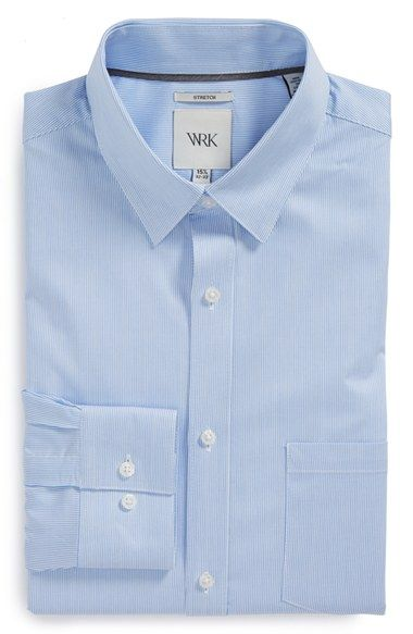 W.R.K Extra Trim Fit Stripe Dress Shirt available at #Nordstrom