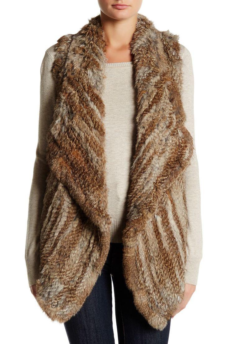 Knit Genuine Rabbit Fur Vest by Bagatelle on @nordstrom_rack
