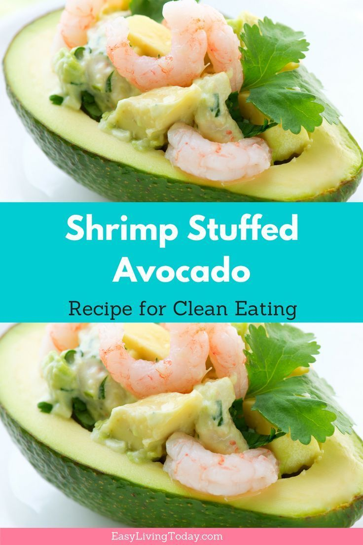 Need a delicious recipe that is quick, simple and doesn't require any actual cooking? This healthy, shrimp stuffed avocado recipe is perfect for you! It has a Mexican flavor and is amazing! Click for full recipe & avocado saving tips! 21 day fix approved!