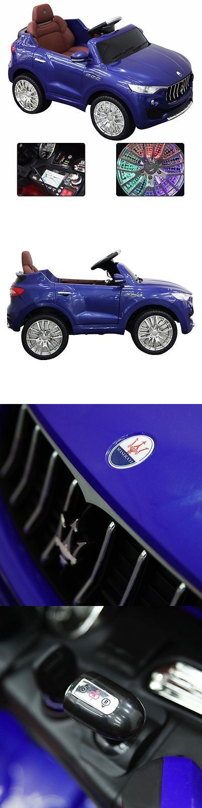 Ride On Toys and Accessories 145944: Maserati Style 6V Kids Ride On Car Electric Power Wheels Remote Control Blue -> BUY IT NOW ONLY: $168.45 on eBay!