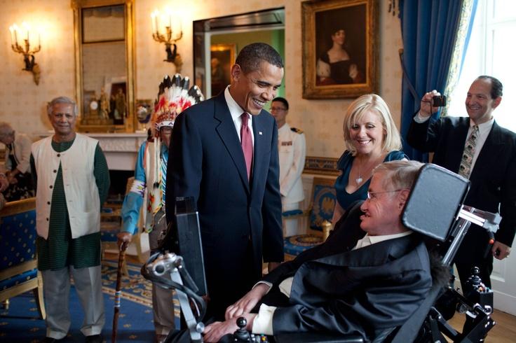 Barak Obama and Stephan Hawking